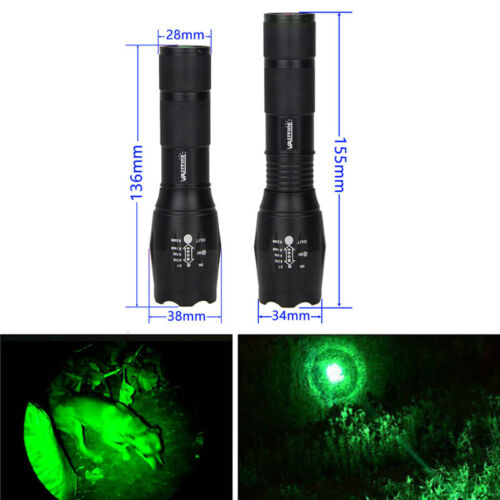Tactical 5000 LM LED Zoomable Focus Flashlight Hunting Torch 18650/AAA Lamp FF