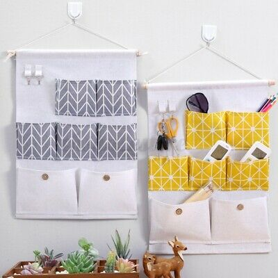 3/7 Pockets Wall Door Hanging Storage Bag Organizer Wardrobe Closet Container