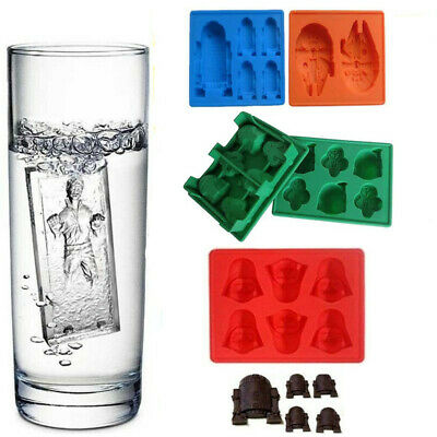 Star Wars Ice Cube Tray Baking Cake Decoration Spaceships Mould Jelly Chocolate