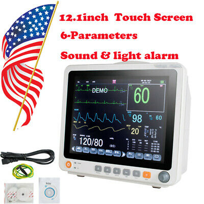 Us Portable Patient Monitor Vital Sign Cardiac Machine Icu Touch Screen Standard