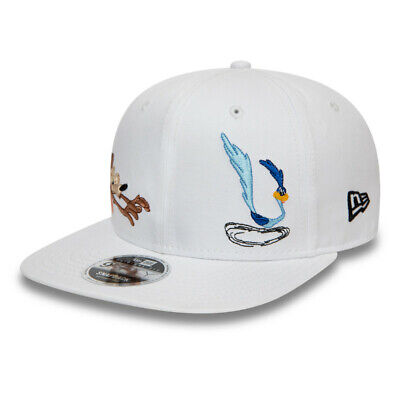 New Era Looney Tunes Chase White Roadrunner & Wile E. Coyote 9FIFTY Snapback Cap