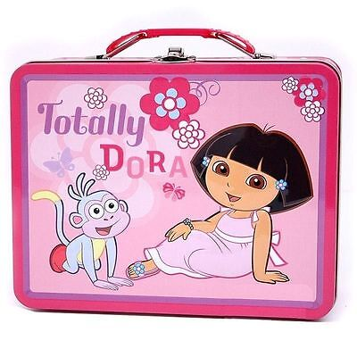 Dora Toy Box - Tin Metal Lunch Snack Toy Box Embossed DORA the Explorer Totally Dora NEW