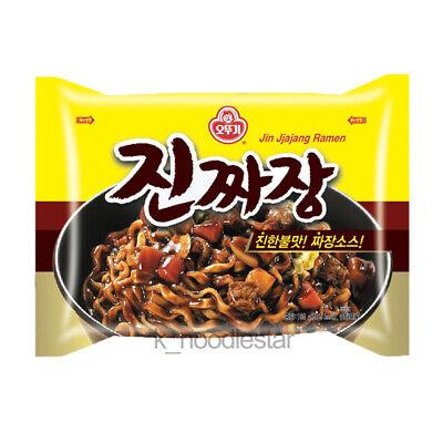 [Ottogi] JinJjajang Ramen Black Bean Sauce Korean Food Noodle 135 g