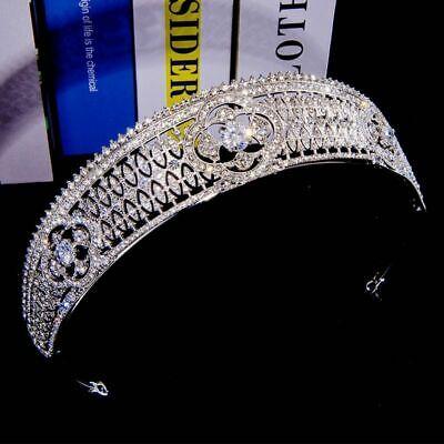 Cz Corona Tiaras Diademas Cristal Concurso de Belleza Boda Accesorios para Pelo