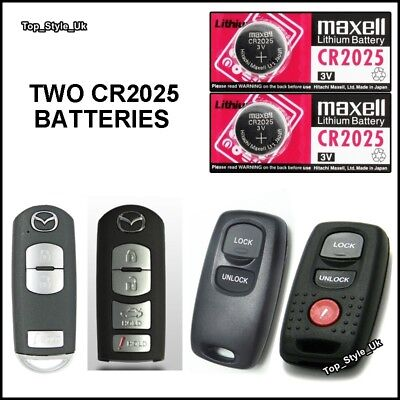 2 Remote Key Fob Batteries For Mazda 6 CX Visteon 2/3/4/5 Button Key Remote C32