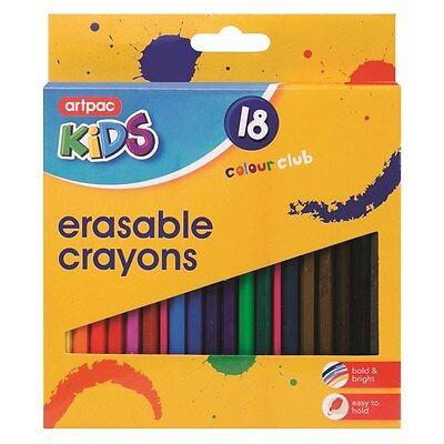 18x Erasable Colouring Crayons Pencils School Kids Birthday Christmas Present UK