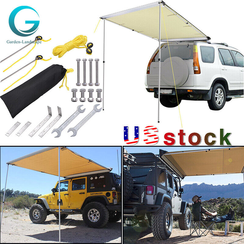 SUV Tent Car Camping Travel Shelter Outdoor Sunshade Side Canopy Awning Rooftop