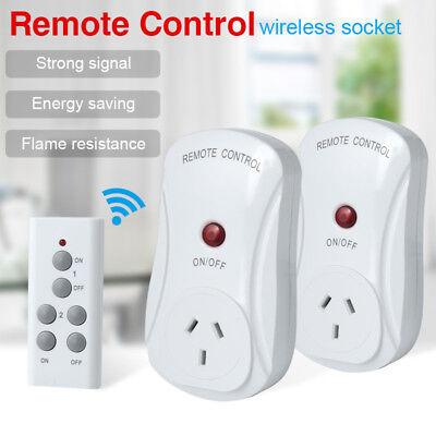 Smart Wireless Socket Remote Control Mains Switch 1/2 Outlet Power Point AU Plug