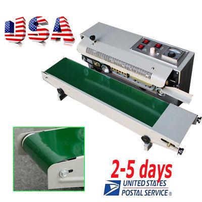 <US>Top Automatic Horizontal Continuous Plastic Bag Band Sealing Sealer Machine