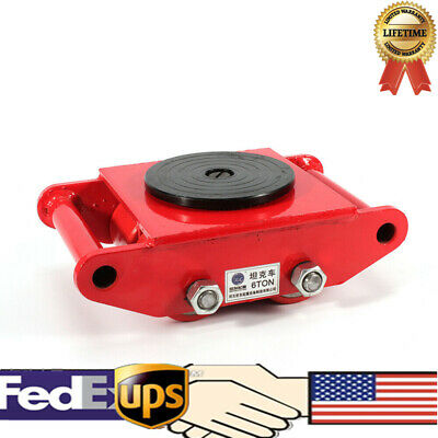 360 Rotation Heavy Duty Machine Dolly Skate 4 Roller Machinery Mover 6t13200lb