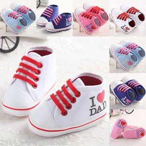 Infant Baby Toddler Girls Boys Sneakers Age 3 6 12 18