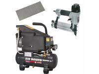 SEALEY AIR COMPRESSOR SAC0610E 6LTR DIRECT DRIVE SA792 NAILER STAPLER 5000 NAIL