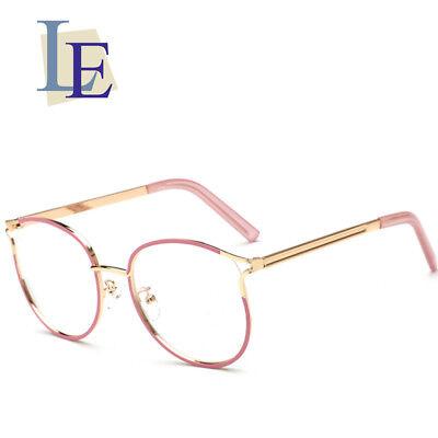 LE Korean Cat Eye Glasses Frames Women Pink Myopia Optic Eyewear Rx (Korean Glasses Frames)