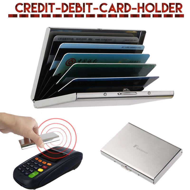 Thin Aluminum Metal Wallet Credit Card Holder Protection