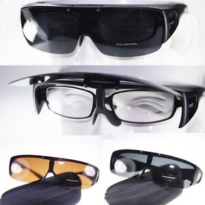 New-Polarized-Fit-over-wraparound-Sunglasses-Flip-up-Clip-on-eyeglasses-CE-AA818