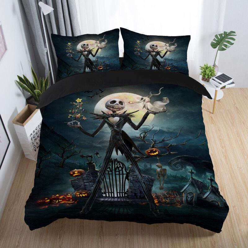 Disney Nightmare Before Christmas Jack Skeleton Zero Duvet C