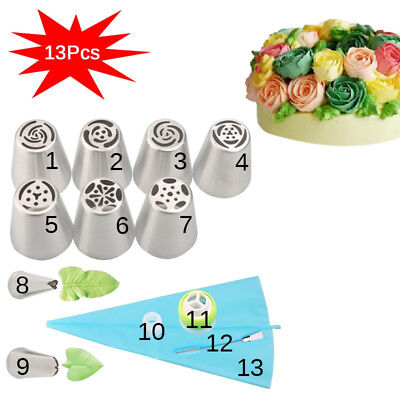 CakeLove - Flower-Shaped Frosting Nozzles Cake Piping Icing Decorating Tool - Flower Shapes