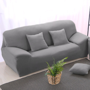 Stretch elastic sofa covers ( set of two )  light grey