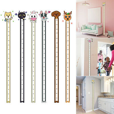 Home Decoration - Cartoon Animal Kids Height Ruler Growth Measure Wall Sticker Home Decoration