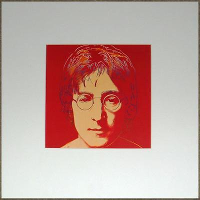 ANDY WARHOL OFF-SET LITHOGRAPH ~ JOHN LENNON in RED ~ MATTED READY 2 FRAME