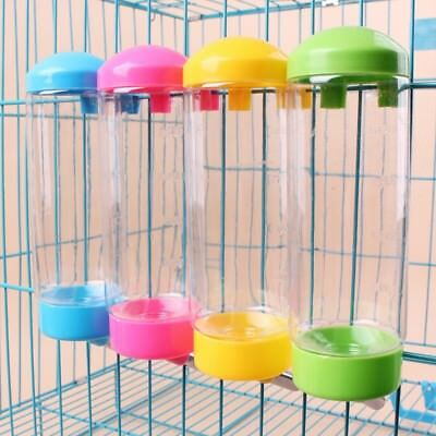 500ML Pet Dog Hanging Cage Water Drinker Bottle Dispenser Bird Auto Feeder US