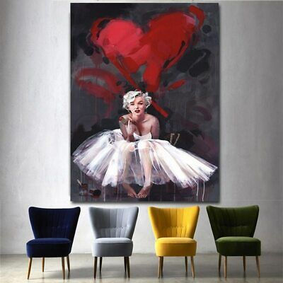 Bubbles Wall Art - Modern decor Wall Art Poster marilyn monroe pink bubble gum Picture For Room