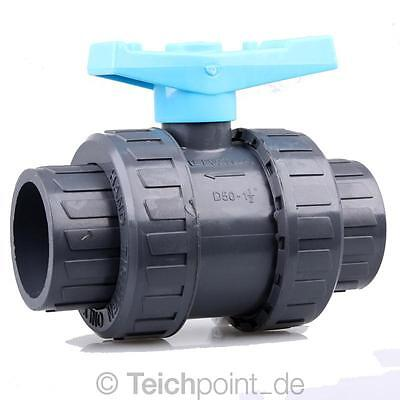 PVC Kugelhahn ECO 40 mm Koi Teich Filter Fitting NEU