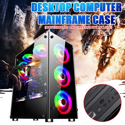 Transparent Glass Gaming Computer PC Case For ATX/M-ATX/ITX Desktop Mainframe (Glass Computers)