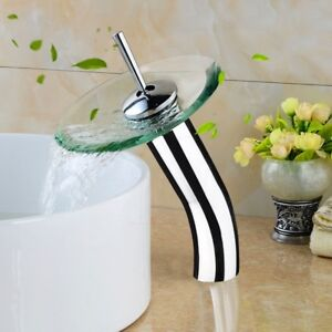 Waterfall Bathroom Basin Mixer Tap Faucet Sink Vessel Single Chr