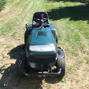 Ride on lawn mower and attachments