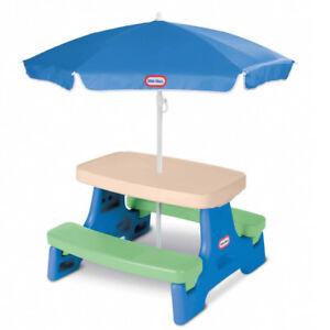 Little Tikes Easy Store Jr. Table with Umbrella - EUC