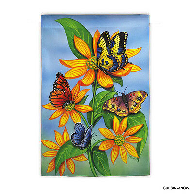 garden flag descending butterfly flag presents silk