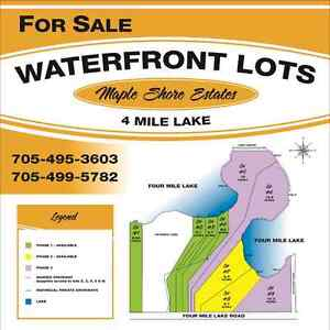 WATERFRONT LOTS ON FOUR MILE LAKE FOR SALE