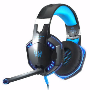 New Over Ear Stereo Gaming Headset Wired Headphones
