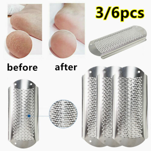 Foot File Callus Professional Replacement Blades Pedicure Rasp Small Holes 3/6Pc Health & Beauty