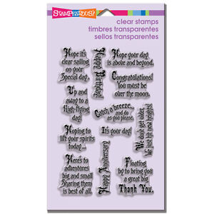 STAMPENDOUS RUBBER STAMPS CLEAR SOARING SENTIMENTS STAMP