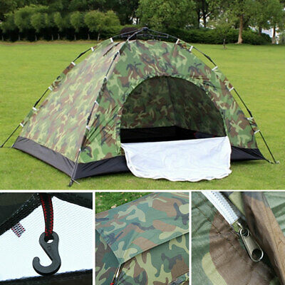 1 2 3 4 Person Instant Pop-Up Camping Tent Family Hiking Cam