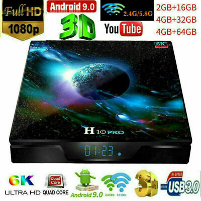2020 New H10 PRO Android 9.0 4K Ultra HD Smart TV Box Quad Core WiFi USB 4G+64G