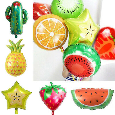 1pcs Fruit Theme Foil Balloons Summer Party Kids Birthday Decoration - 1 Birthday Theme