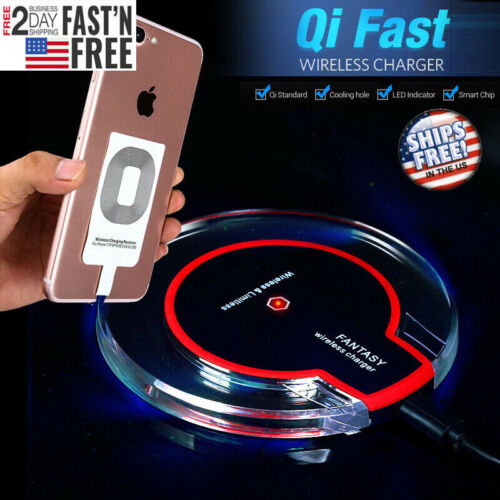 Qi Wireless Charger Pad Charging Dock for Cell Phones iPhone