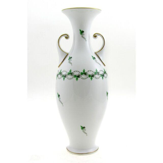 Hungarian Porcelain Herend Persil Decor Vase 13 Inch Tall Ebay