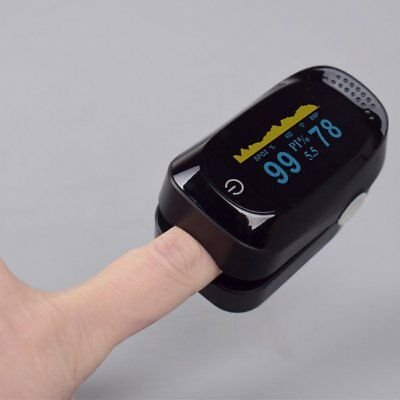 Finger Tip Pulse Oximeter Blood Oxygen Heart Rate Monitor Led Display Spo2 Pr Pi