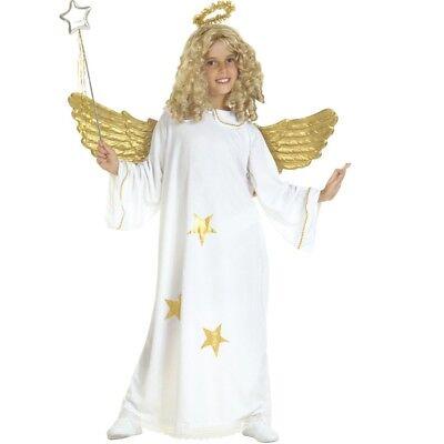 TOP Star Kinder Engel Kostüm mit Heiligenschein Gr. 128  -  S3818