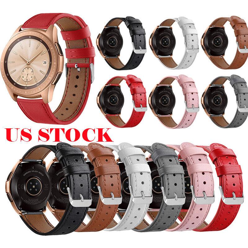 For Samsung Galaxy Watch 42mm Genuine Leather Band Watch Str