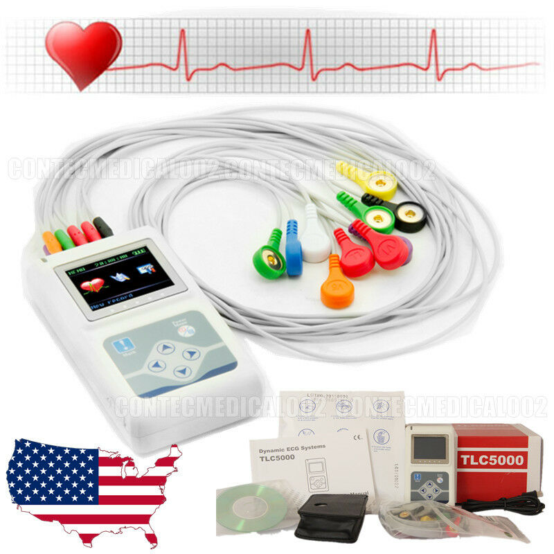 2019 Newest 12-channel ECG/EKG Holter System/Recorder Monitor ​Analyzer Software