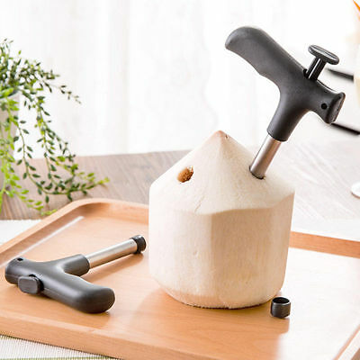 Coconut Opener Tool Coco Water Punch Tap Drill Straw Open Hole Cut Gift*-*