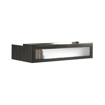 Mayline Aberdeen Series Reception Transaction Counter In Gray Steel