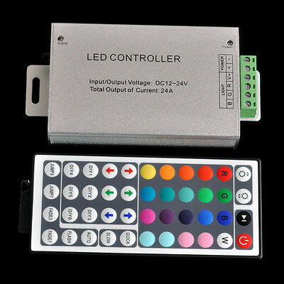 Rgb Led Strip Controller - DC 12V 24A 288W 44key IR Remote Controller Control RGB 3528 5050 SMD LED Strip
