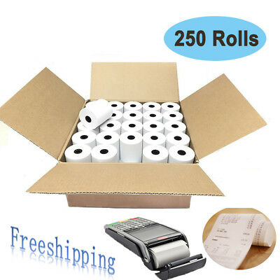 250 Rolls 2 14 X 85 Thermal Cash Register Credit Card Pos Receipt Paper Label
