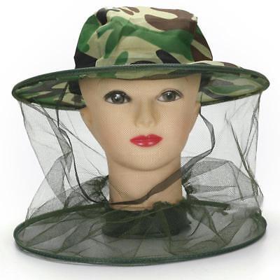 Folding Ventilated Beekeeping Bee Keep Hat Protective Veil Mask Mesh Net Cap Gog